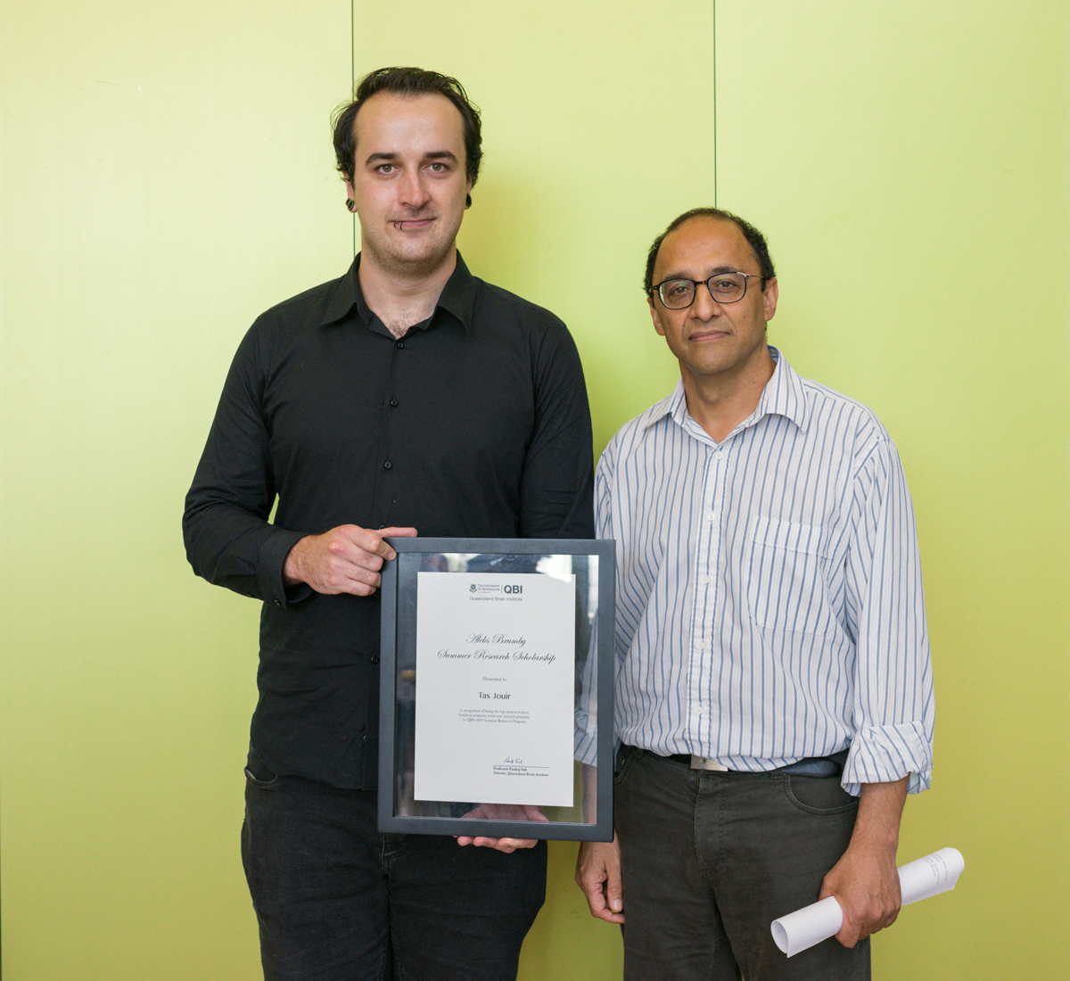 Tas Jouir is awarded the Aleks Brumby Summer Research Scholarship