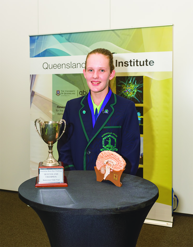 Abigail Green, Queensland Champion, competes at the Australian Brain Bee National Finals