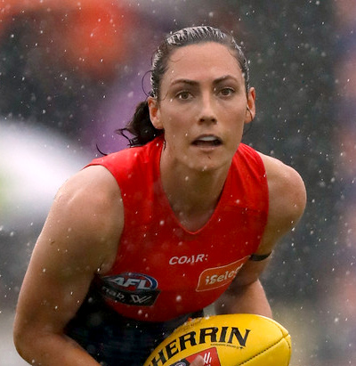 Like many athletes, AFLW player Meg Downie isn't afraid to put her body on the line, but she's had a heavy concussion and supports more research to help make players safer.