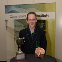 After correctly answering that the cochlear and vestibular nerves are the two branches of the eighth cranial nerve, 15-year-old Abigail Green from Somerville House has become the 2015 Queensland Brain Bee Champion.