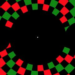 Checkerboard patterns shown to volunteers with macular degeneration to measure their brain response.