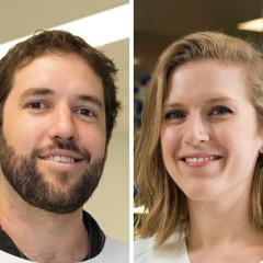 Dr James Kesby and Dr Laura Fenlon have been awarded Queensland Young Tall Poppy Awards.