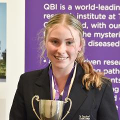 Caitlin Wadley has won the 2021 Queensland finals of the 2021 Australian Brain Bee Challenge.