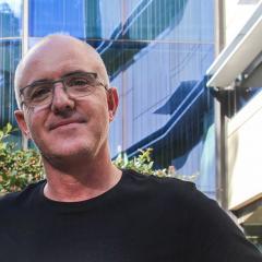 Dr Tristan Wallis outside the Queensland Brain Institute
